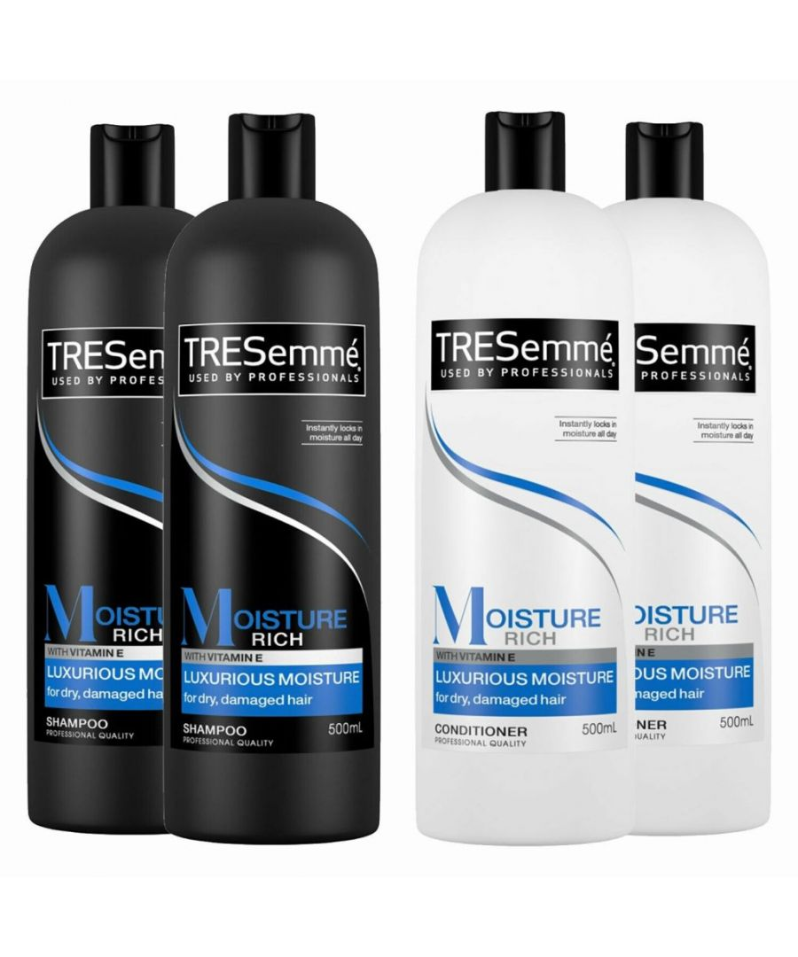 Image for TRESemme Luxurious Moisture Rich Pack of 2 Shampoo & Conditioner Pack of 2, 500ml