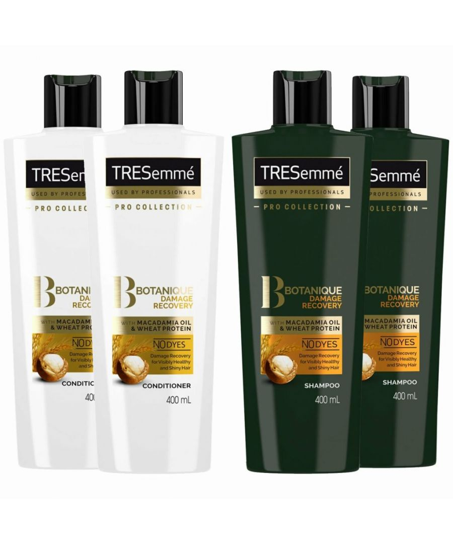 Image for TRESemme Botanique Damage Recovery Shampoo Pack of 2 & Conditioner Pack of 2, 400ml