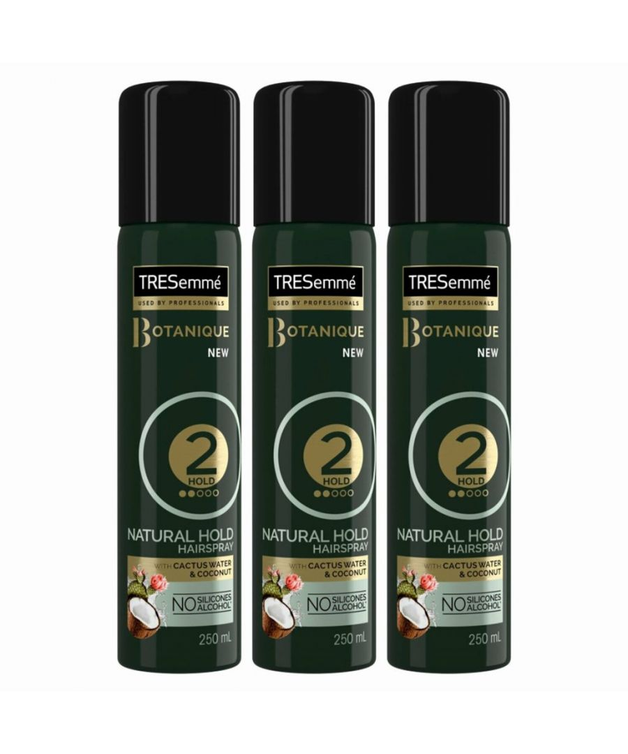 Image for TRESemme Botanique Natural Hold Hairspray, Pack of 3, 250ml