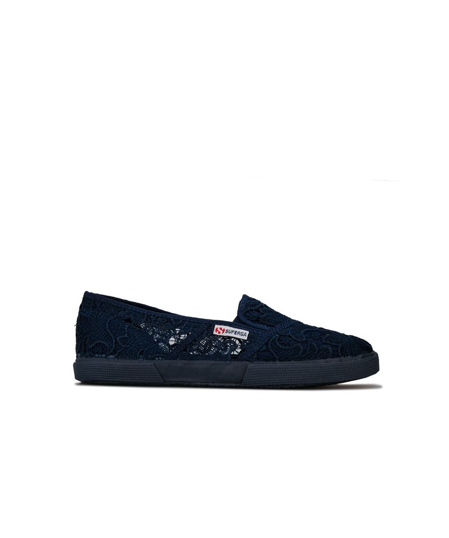 Image for Women's Superga 2210 Macremw Classic Pumps in blue navy