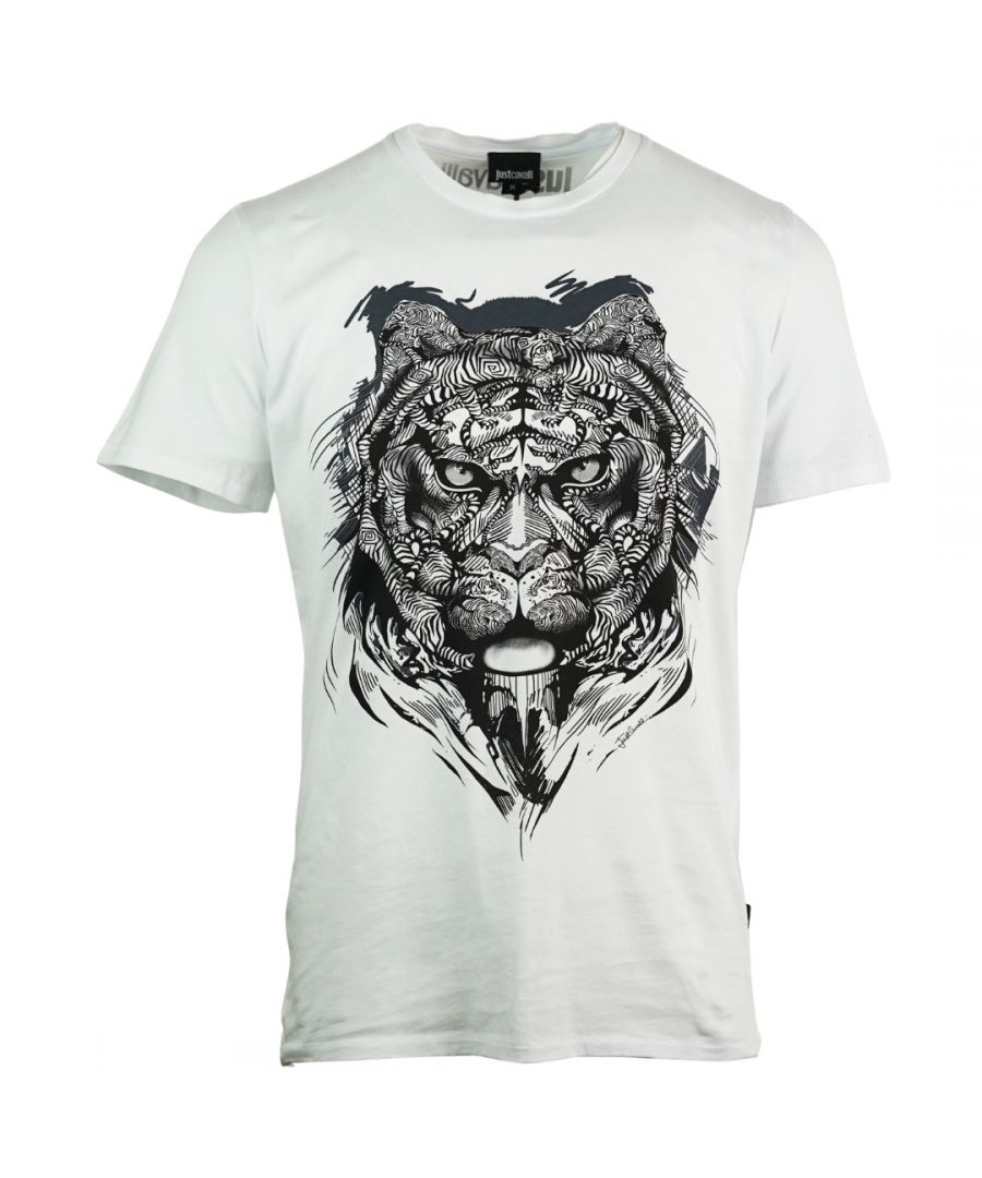 Image for Just Cavalli Lion Print Black T-Shirt