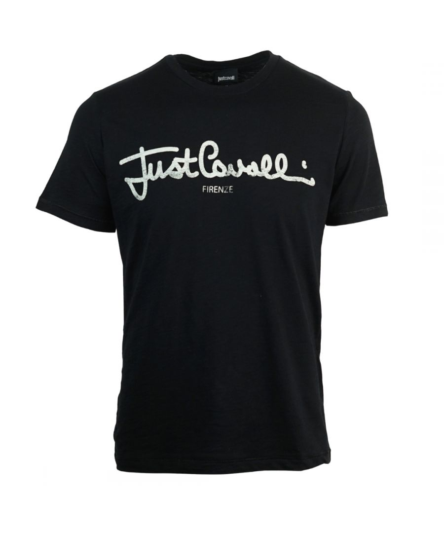 Image for Just Cavalli Signature Logo Black T-Shirt