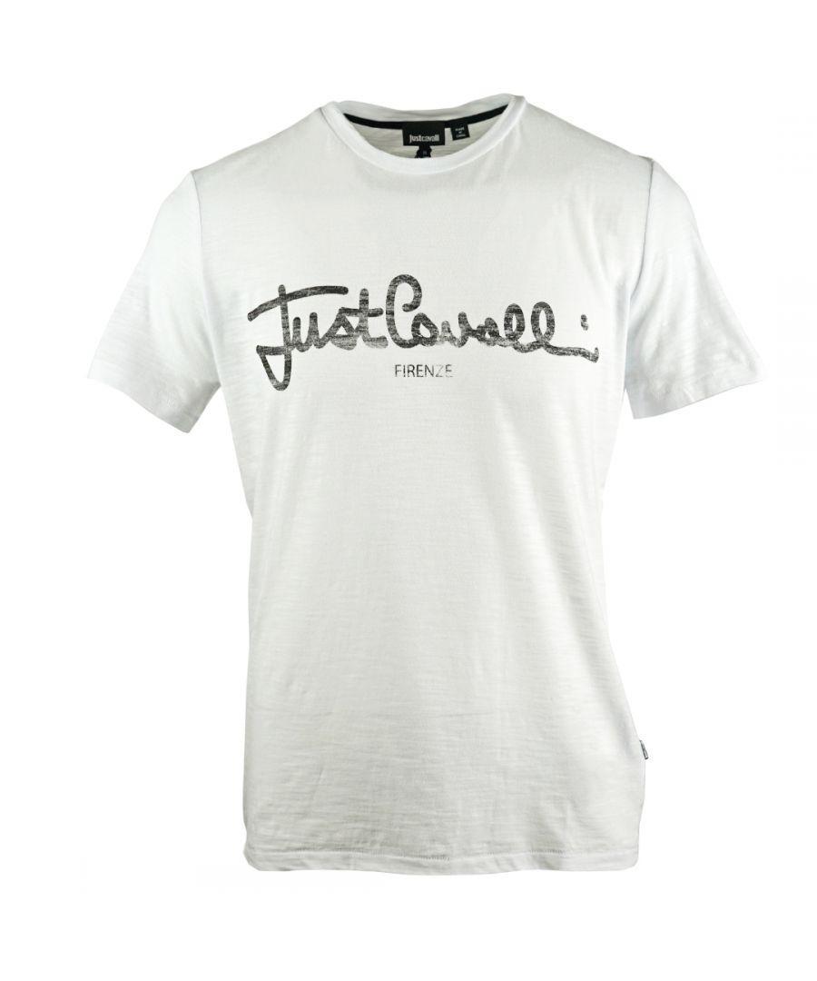 Image for Just Cavalli Signature Logo White T-Shirt