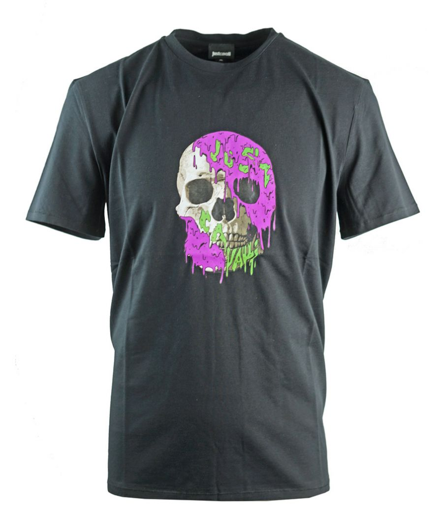 Image for Just Cavalli Painted Skull Black T-Shirt