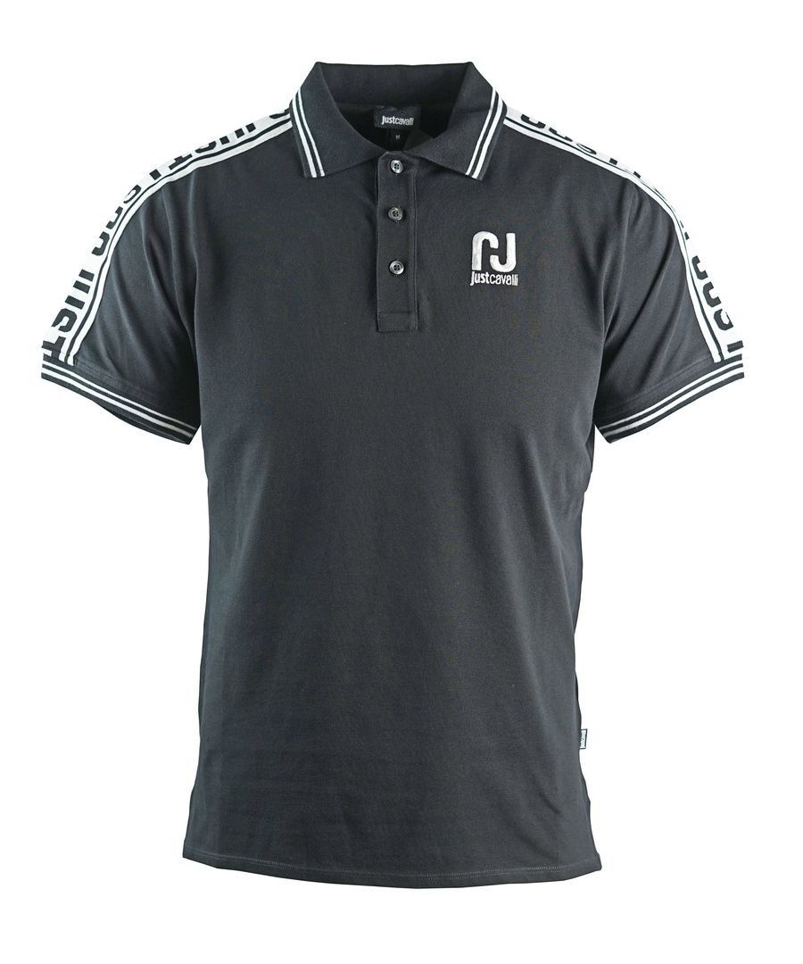 Image for Just Cavalli Sports Logo Black Polo Shirt