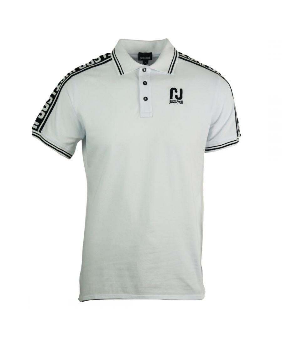 Image for Just Cavalli Sports Logo White Polo Shirt