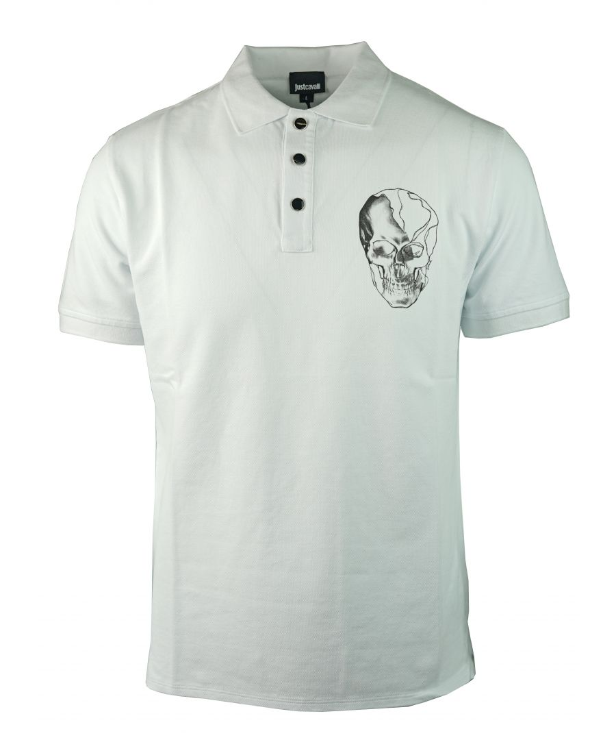 Image for Just Cavalli S03GL0024 N21368 100 Polo Shirt