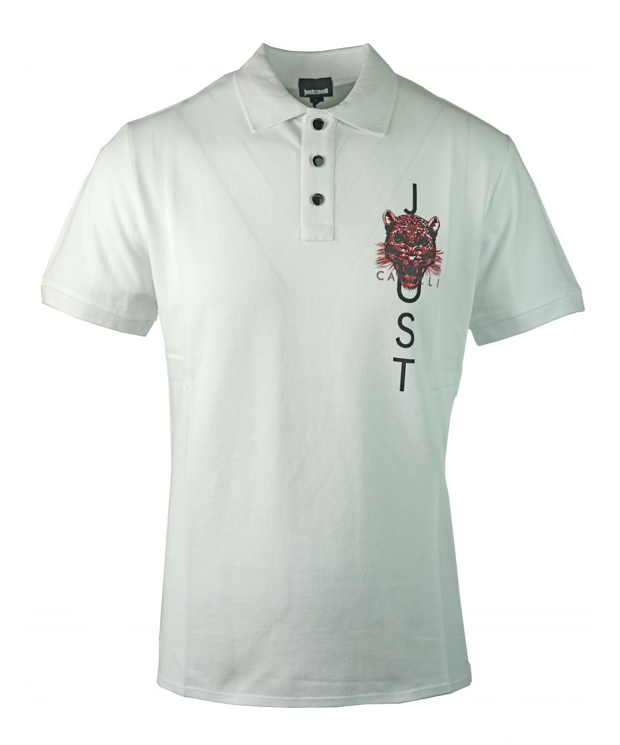 Image for Just Cavalli S03GL0025 N21368 100 Polo Shirt