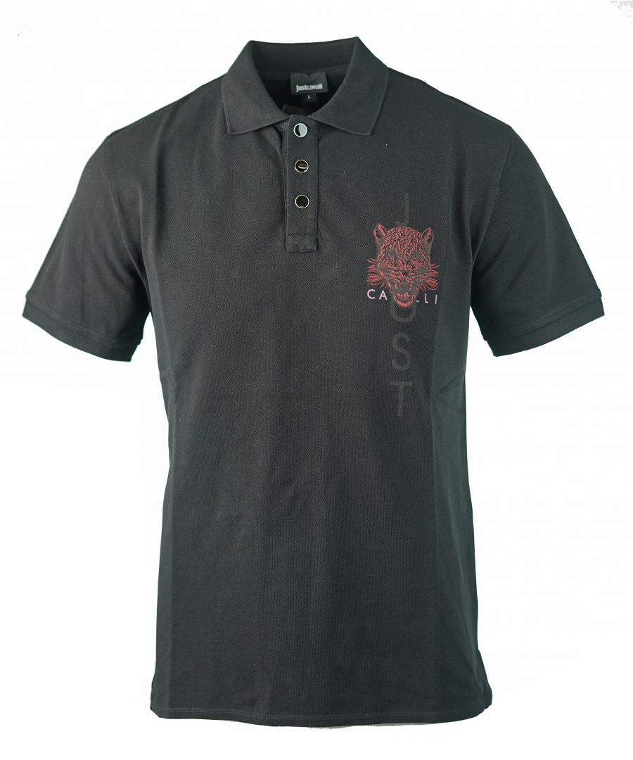 Image for Just Cavalli S03GL0025 N21368 900 Polo Shirt