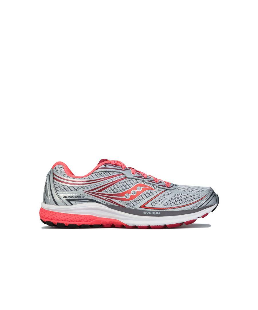 Image for Women's Saucony Munchen 3 Running Shoes in Grey
