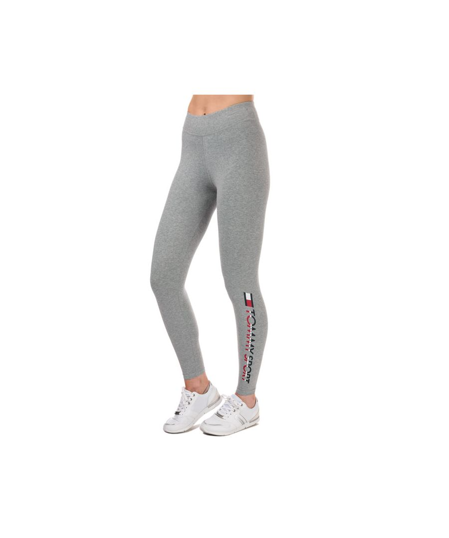 Image for Women's Tommy Hilfiger Stretch Cotton Leggings in Grey Heather