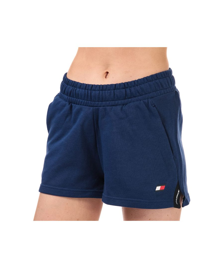 Image for Tommy Hilfiger Women's Bio Cool Tape Detail Shorts in Blue