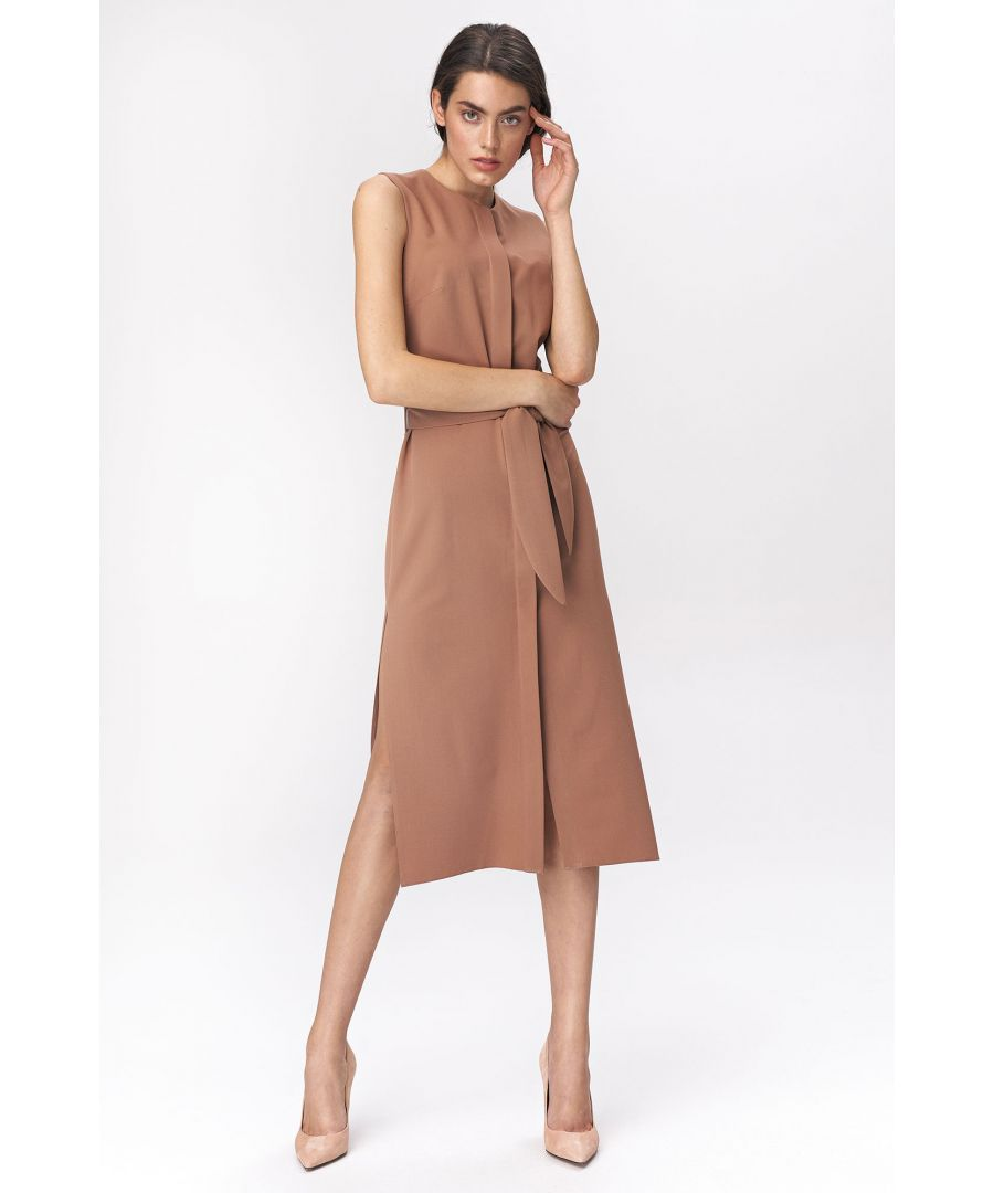 Image for Caramel dress in shirt style
