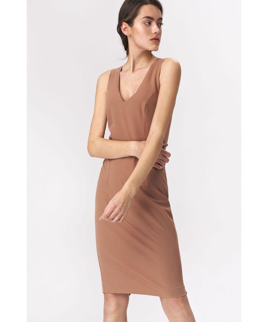 Image for Caramel mini dress