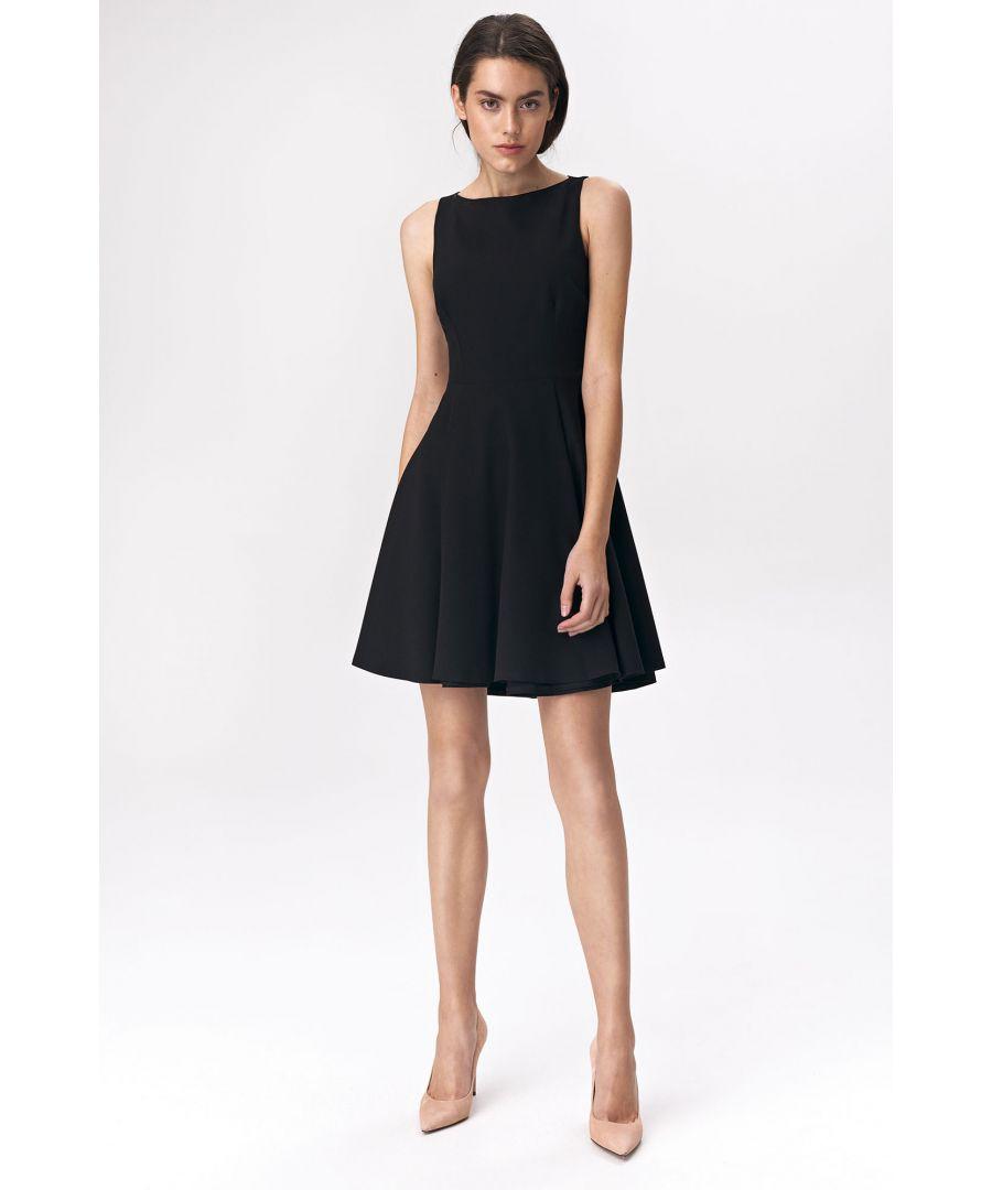 Image for Flared black dress mini