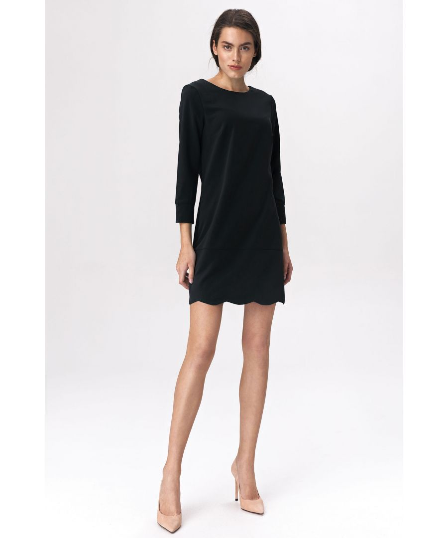 Image for Black dress with a neckline at the back