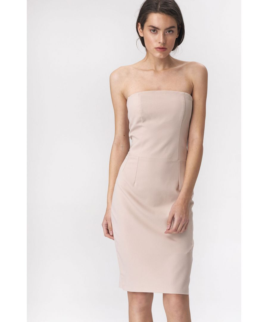 Image for Beige dress in tube fashion