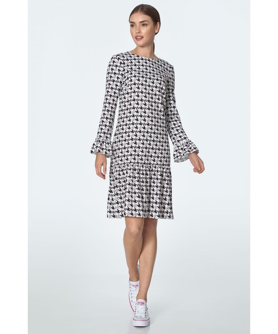 Image for Dress with flounce in pepito pattern