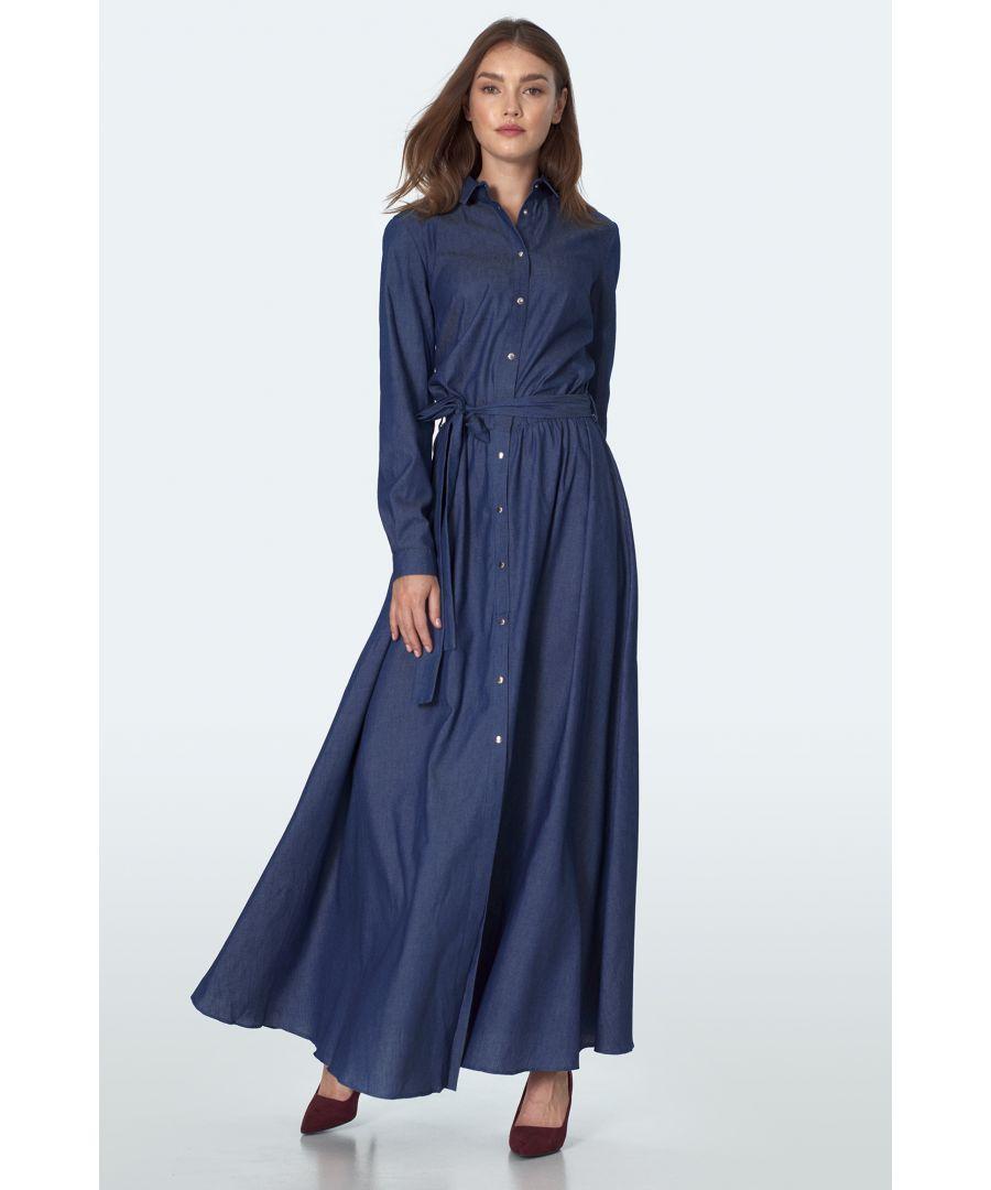 Image for Denim maxi dress