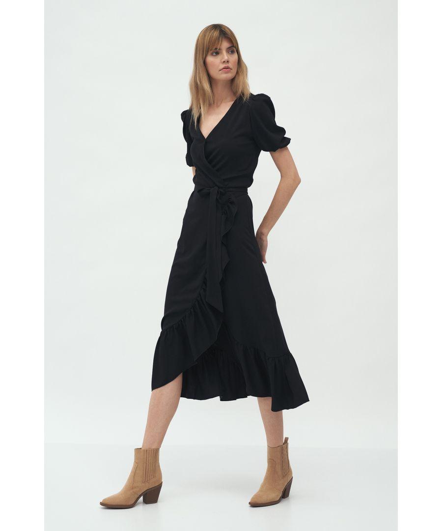 Image for Lightweight Wrap Midi Dress