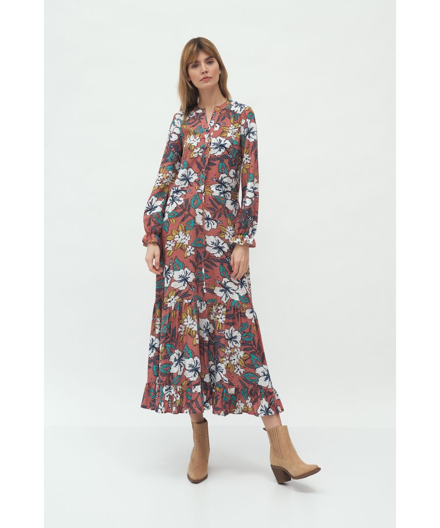 Image for Long Dress in Floral Pattern