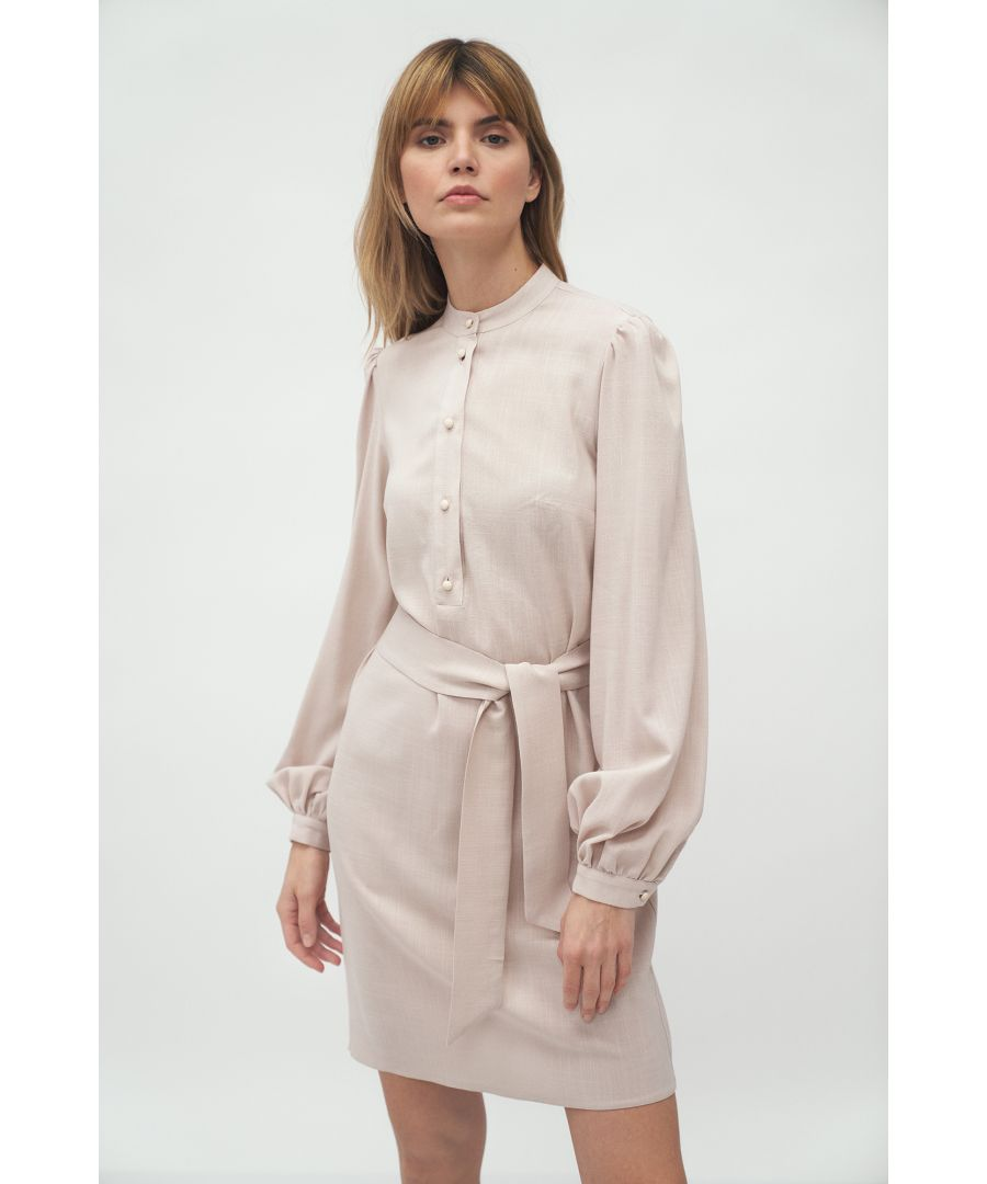 Image for Beige Dress With Tied Belt