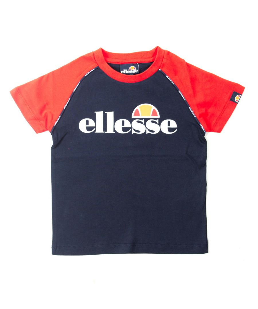 Image for Ellesse Rivalo Junior T-Shirt Navy Blue - 3-4 Years