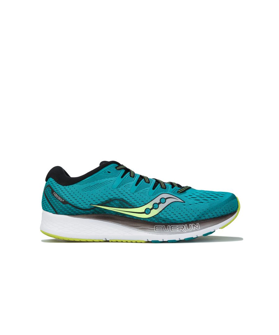 Image for Men's Saucony Ride ISO 2 Running Shoes in Green black