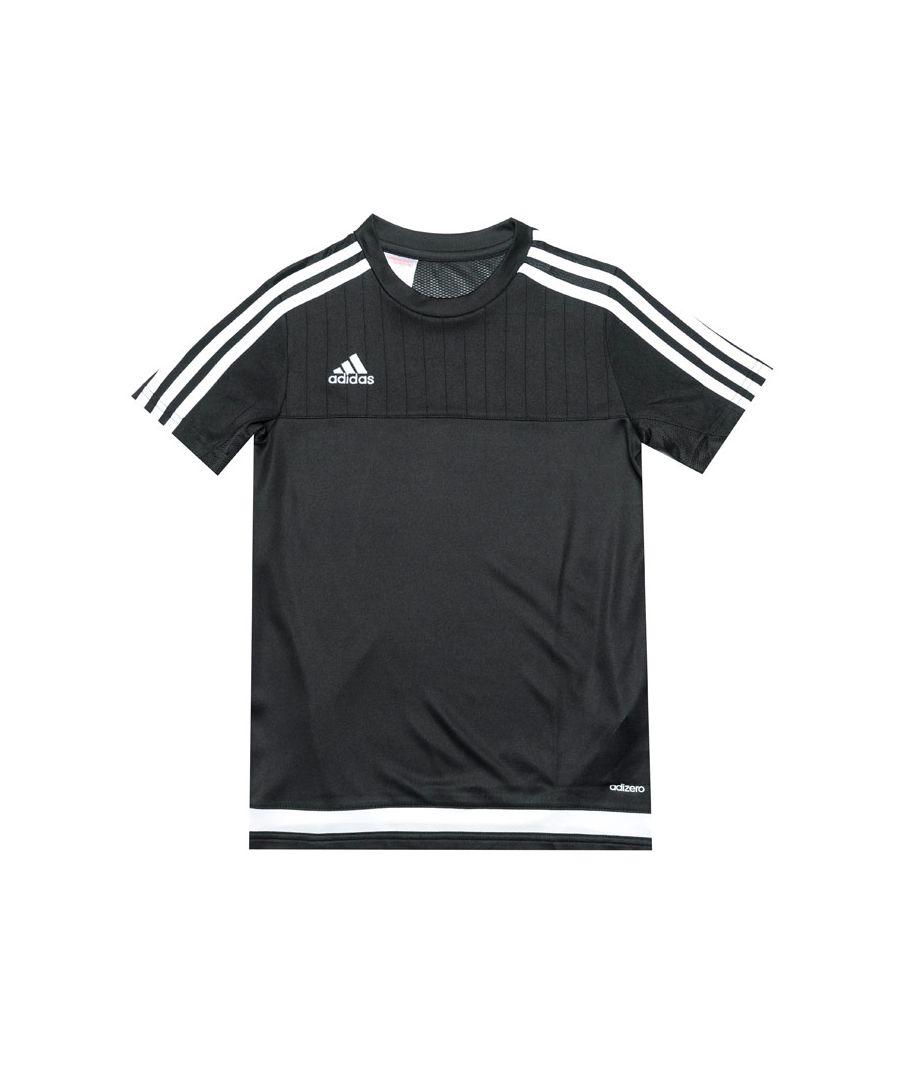 Image for Boy's adidas Junior Tiro 15 Training T-Shirt in Black