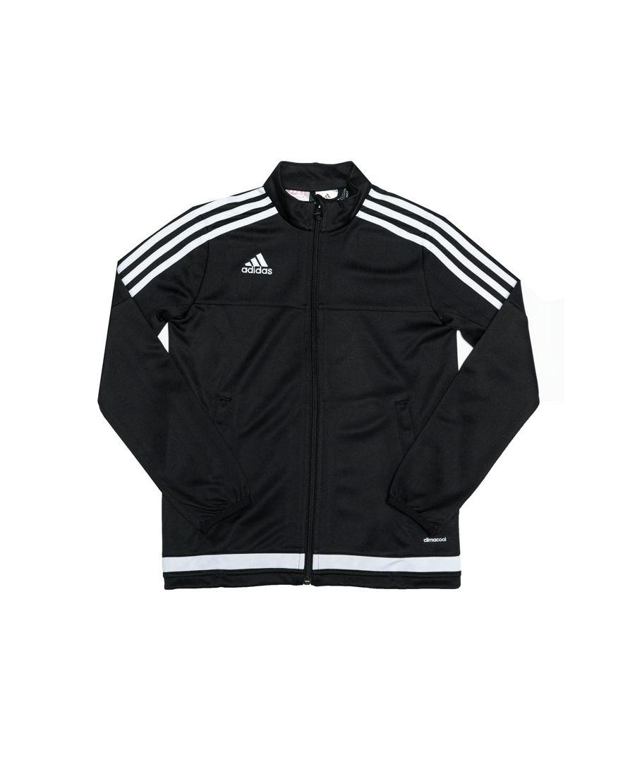 Image for Boy's adidas Junior Tiro 15 Training Jacket in Black