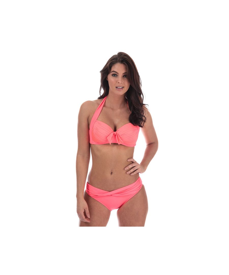 Image for Women's Seafolly Twist Band Hipster Bikini Bottoms in Coral