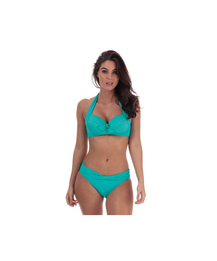 Image for Women's Seafolly Twist Band Hipster Bikini Bottoms in Green