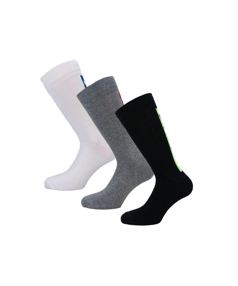 Image for Men's DKNY Franklin 3 Pack Socks in Black Grey White