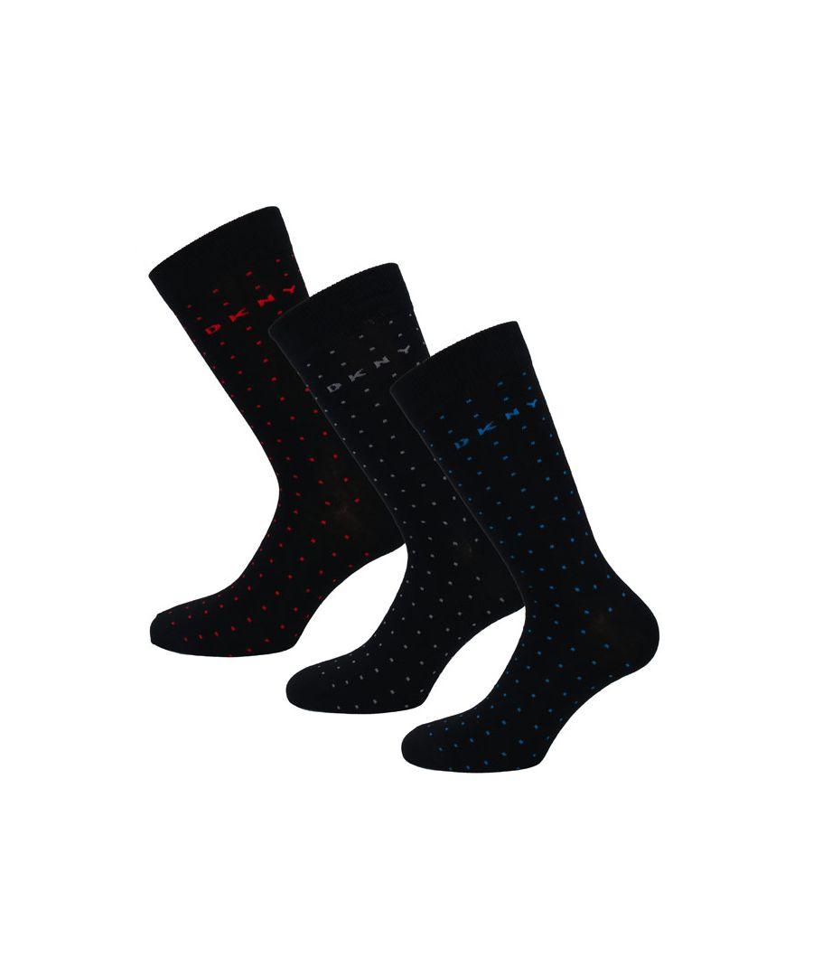 Image for Men's DKNY Indiana 3 Pack Socks in Black