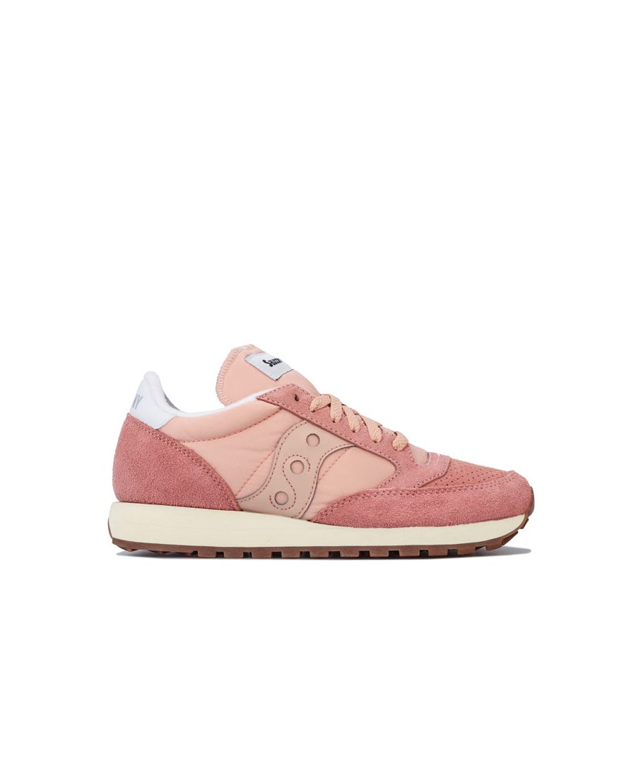 Image for Women's Saucony Jazz Original Vintage Trainers in Peach