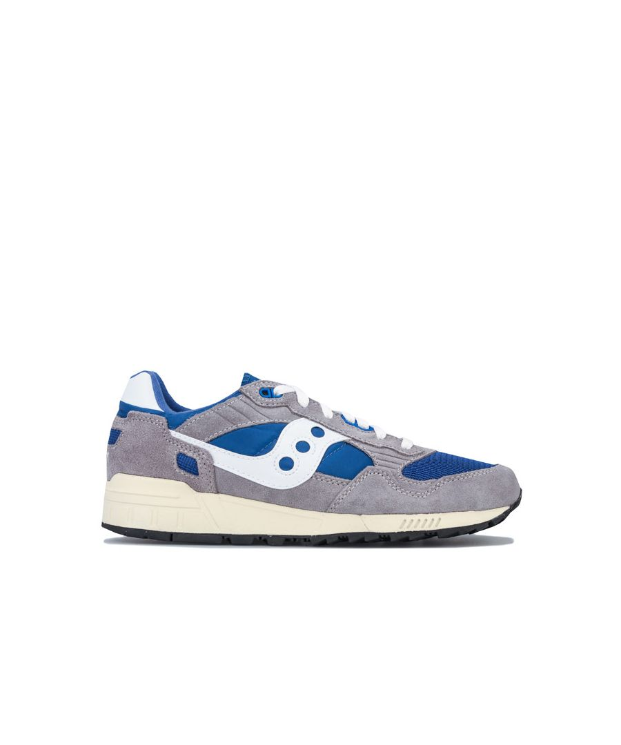 Image for Men's Saucony Shadow 5000 Vintage Trainers in Grey blue