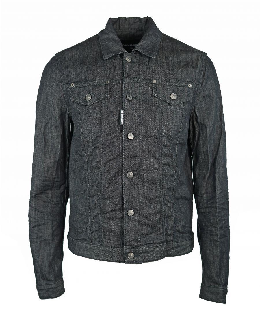 Image for DSquared2 S71AM0775 S30400 900 Black Jacket