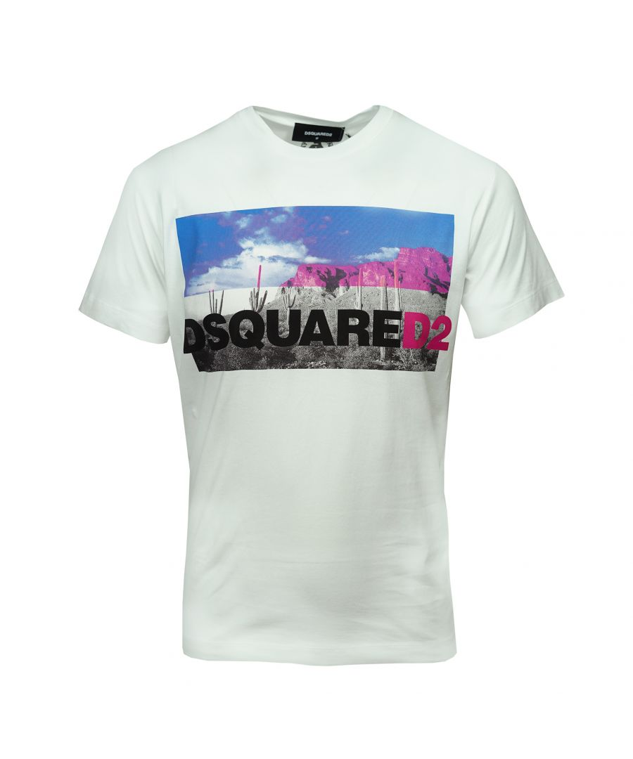 Image for DSquared2 S71GD0675 S22844 100 T-Shirt