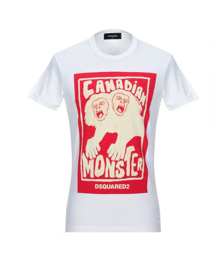 Image for Dsquared2 Canadian Monster White T-Shirt