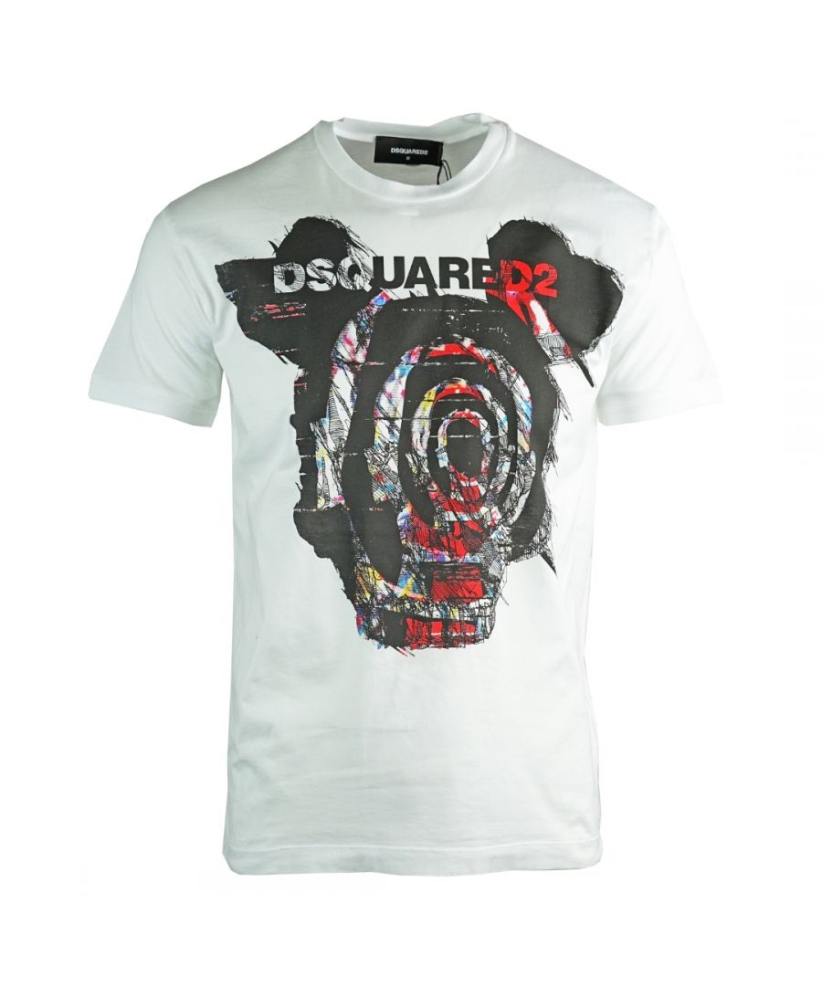 Image for Dsquared2 Very Very Dan Fit White T-Shirt