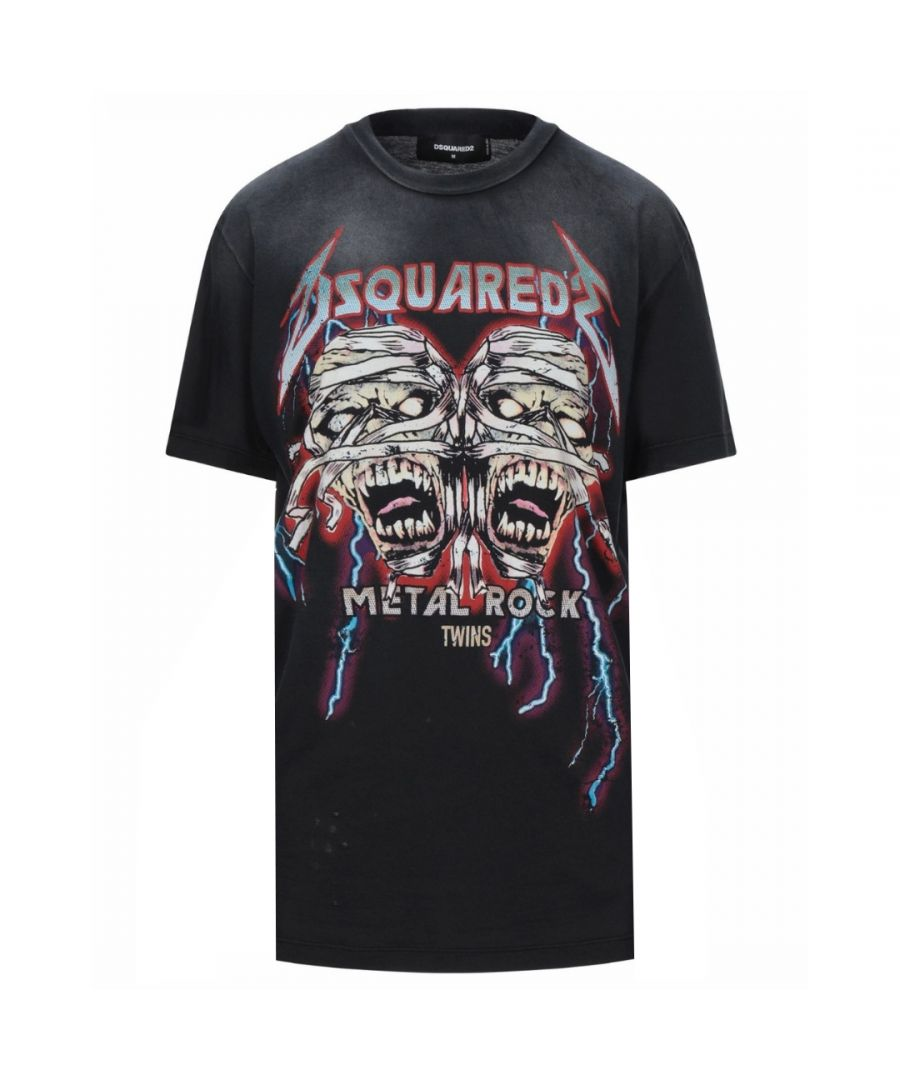Image for Dsquared2 Cool Fit Zombie Twins Black T-Shirt