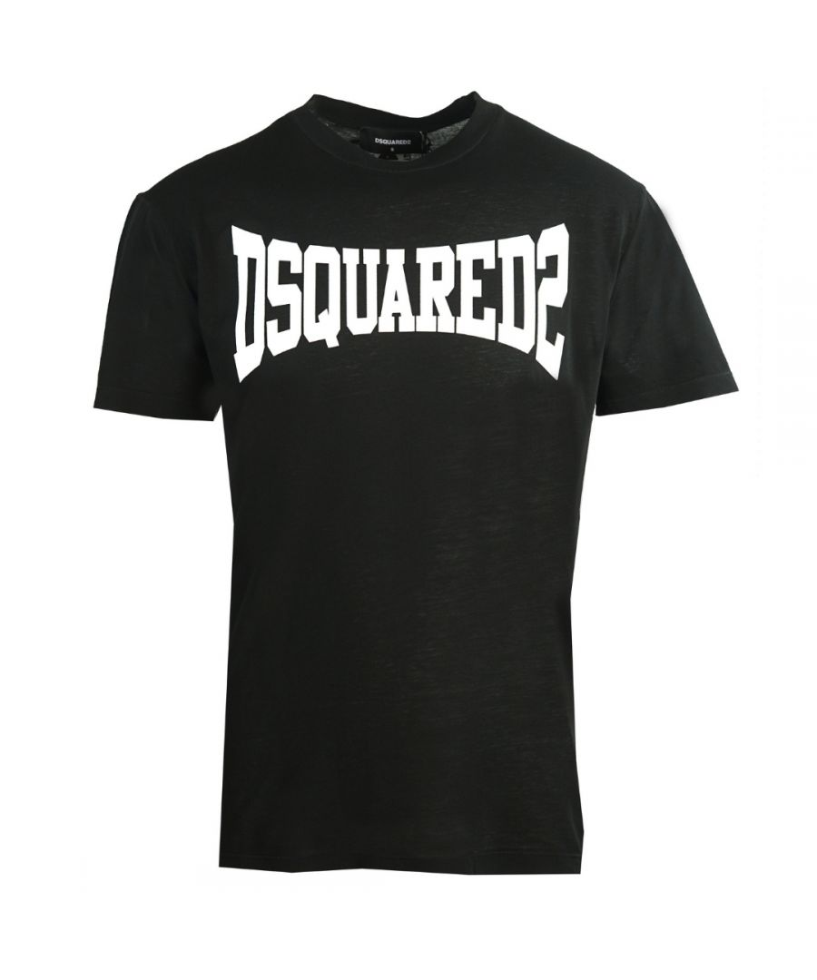 Image for Dsquared2 Cool Fit Stretched Logo Black T-Shirt