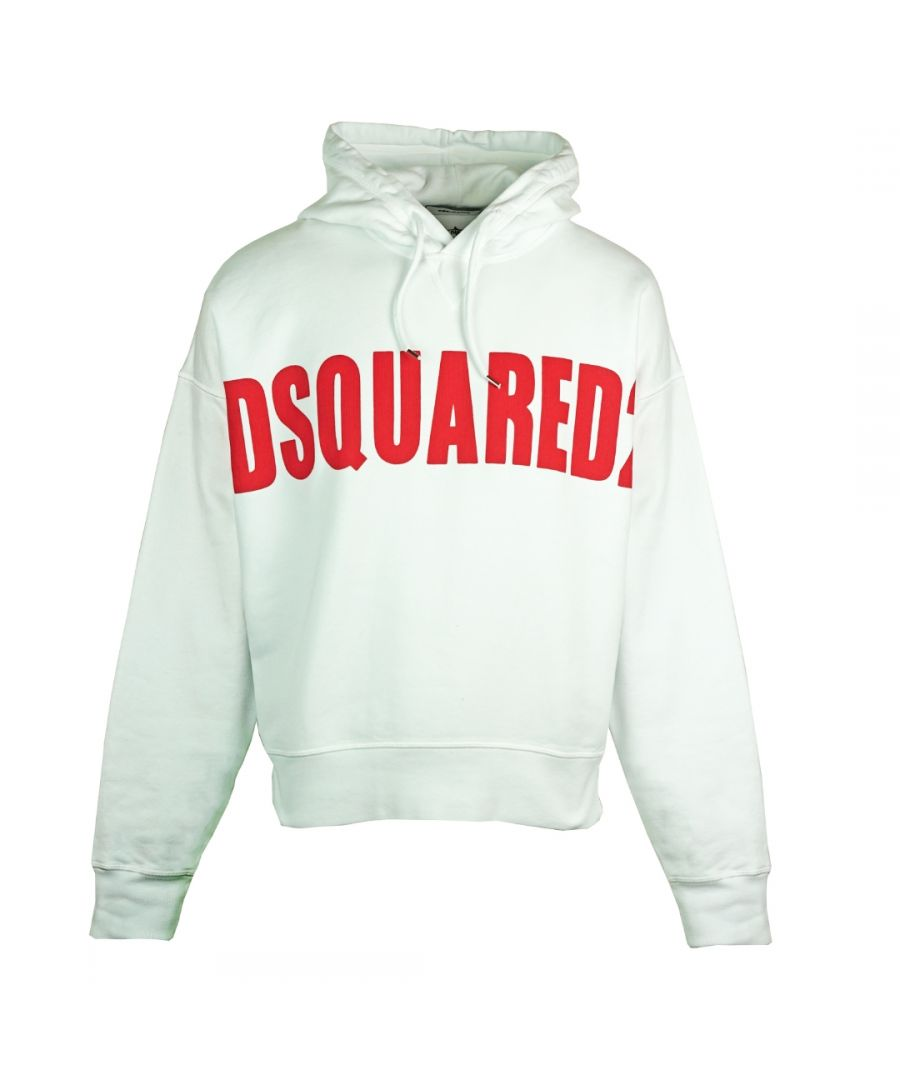 Image for Dsquared2 Large Logo Oversize White Hoodie