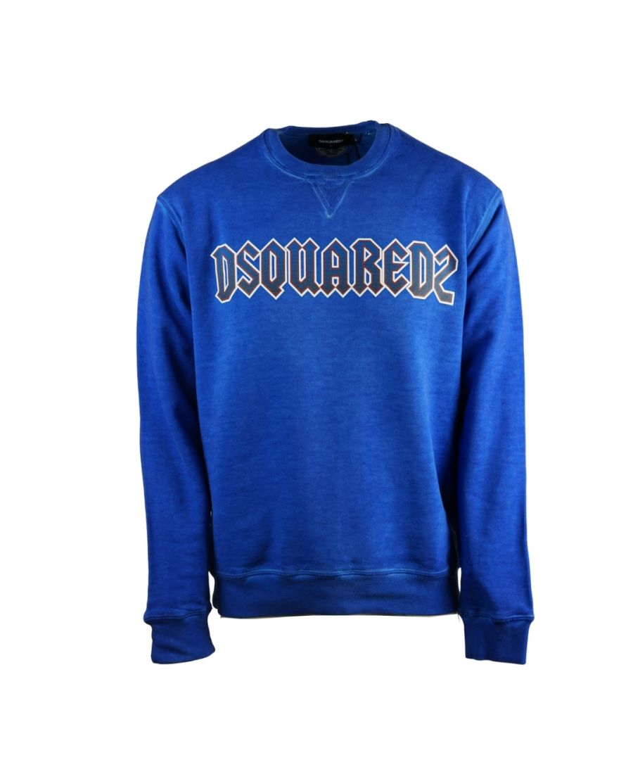 Image for Dsquared2 Rock Logo Cool Fit Blue Sweatshirt