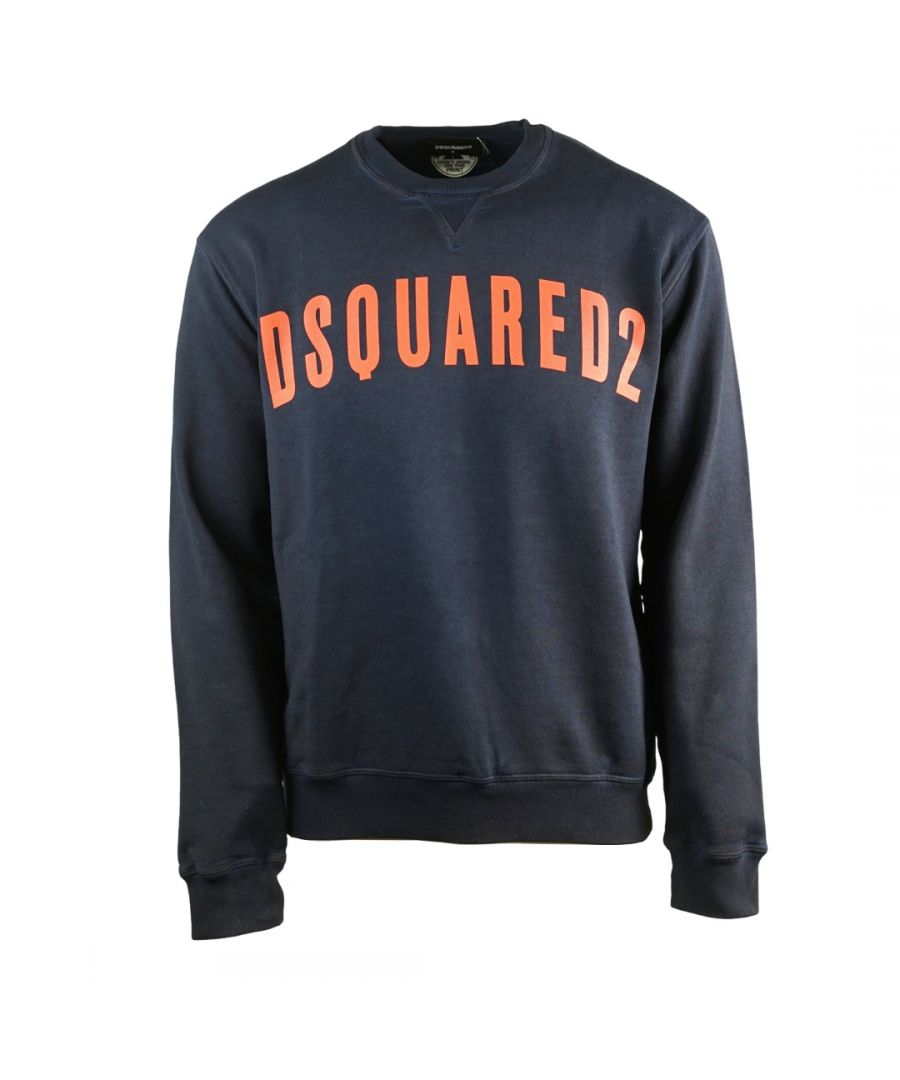 Image for Dsquared2 Large Logo Cool Fit Navy Sweatshirt