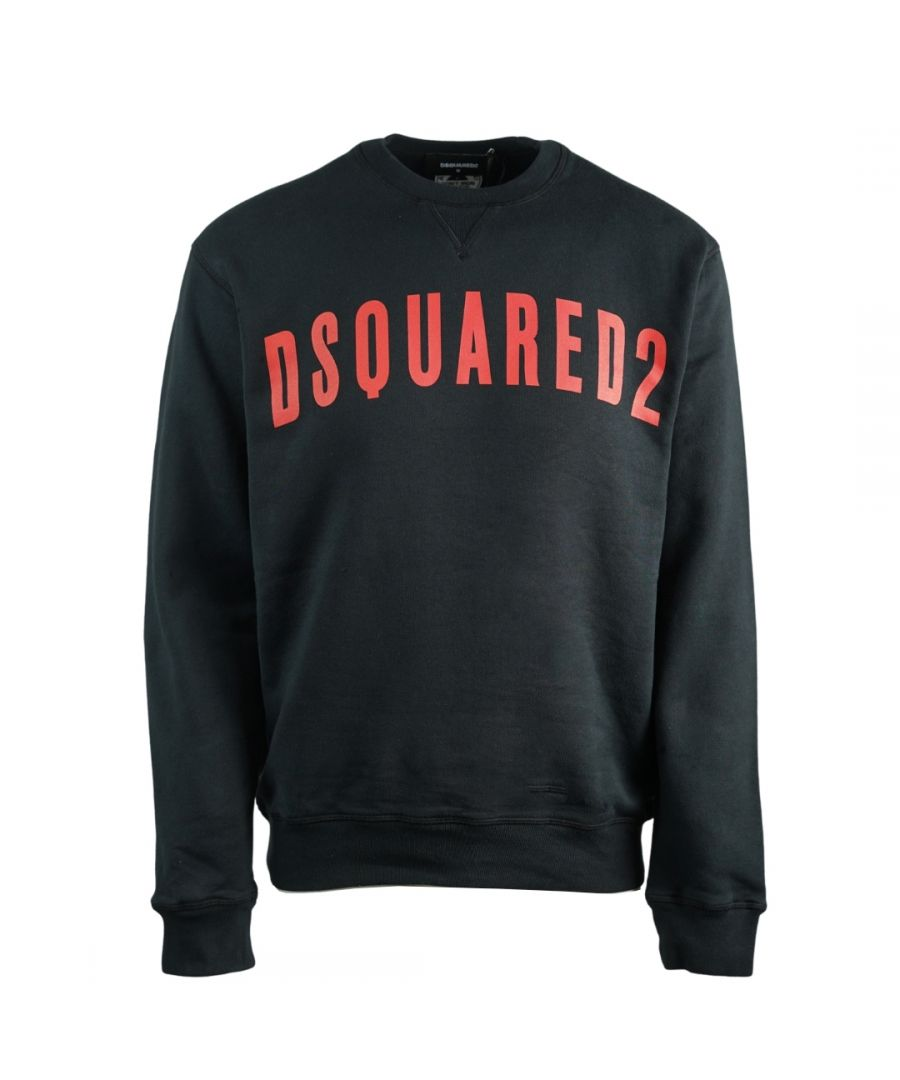 Image for Dsquared2 Large Logo Cool Fit Black Sweatshirt