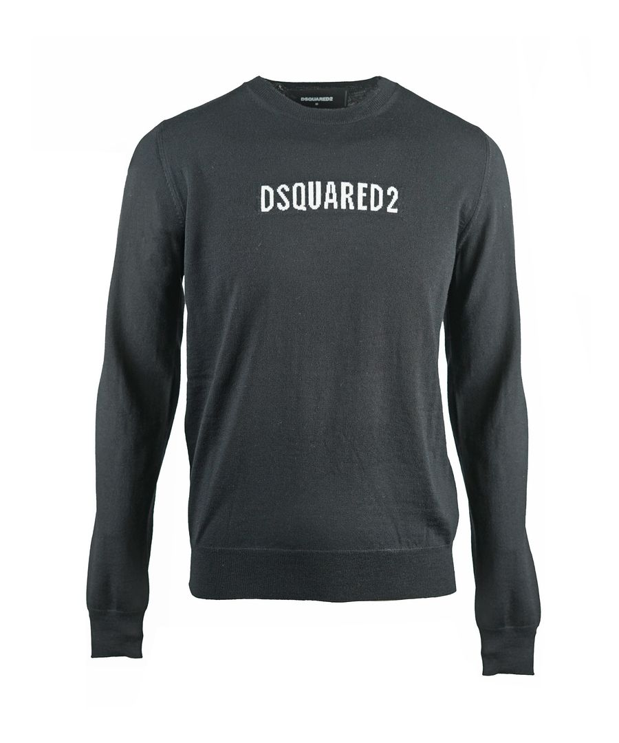 Image for Dsquared2 Box Logo Knit Black Jumper