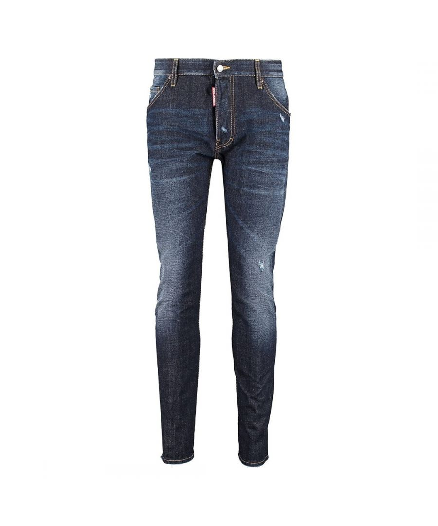 Image for Dsquared2 Classic Kenny Twist Jean Distressed Blue Jeans