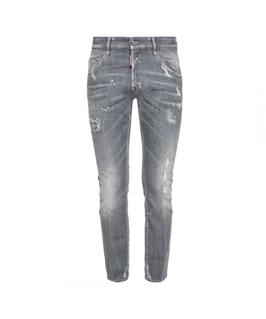 Image for Dsquared2 Skater Jean Grey Distressed Jeans
