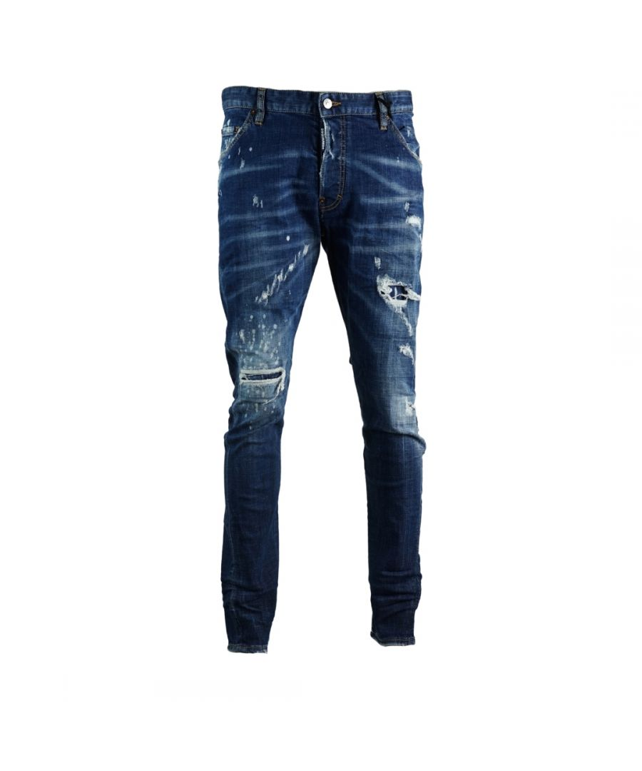 Image for Dsquared2 Classic Kenny Jean Distressed Faded Jeans